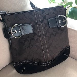 Coach Brown with Leather and Suede Trim F05K-3574